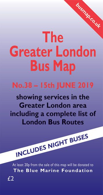 Greater London Bus Map Current Edition