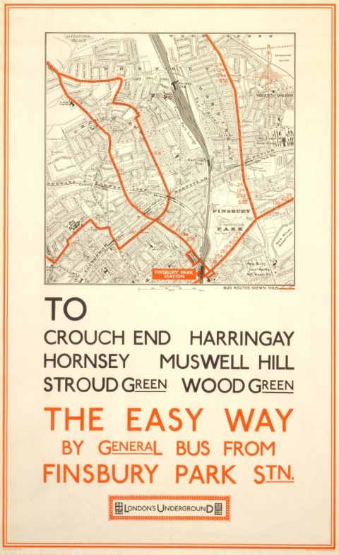 The easy way; Crouch End (map), unknown, 1928