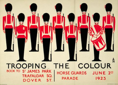Trooping the Colour, by Aldo Cosomati, 1923