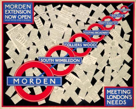 Morden Extension now open, artist unknown, 1926
