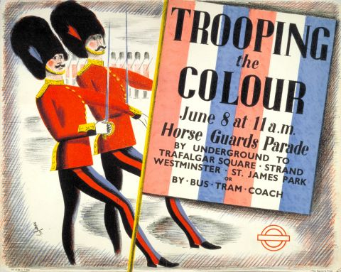 Trooping the Colour, by Charles Mozley, 1939