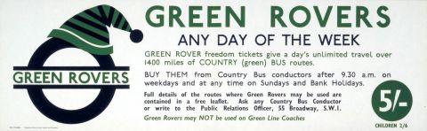 Green Rovers, artist unknown, 1958