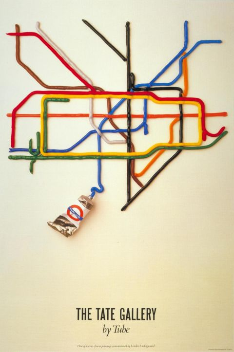 The Tate Gallery by Tube, by David Booth of the agency Fine White Line, 1987