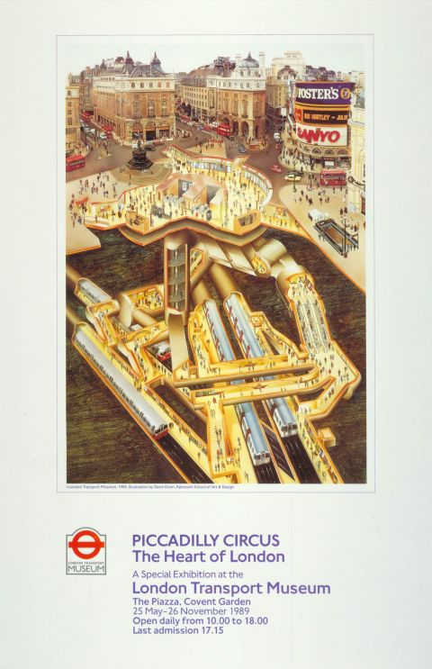 Piccadilly Circus, by Gavin Dunn, 1989