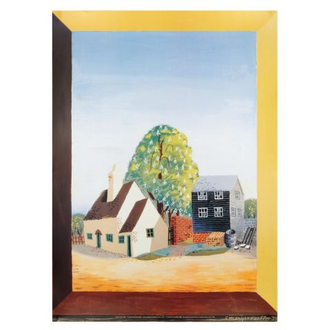 Spring in the Village Print Poster