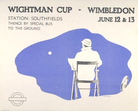 Wightman Cup, Wimbledon, by Carpenter, 1936