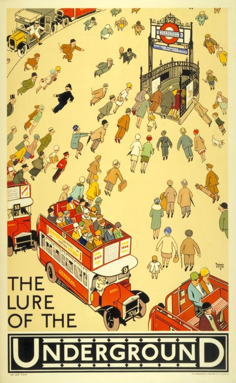 The lure of the Underground, by Alfred Leete, 1927