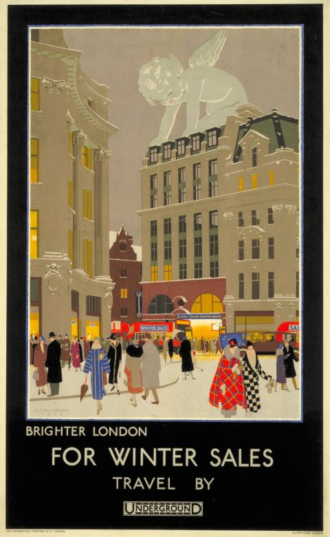 Brighter London for winter sales, by Harold Sandys Williamson, 1924