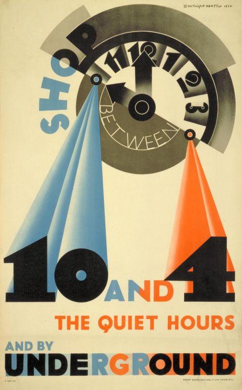 Shop between 10 and 4, by Edward McKnight Kauffer, 1931