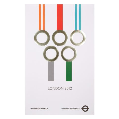 London 2012 Silver Medals Poster