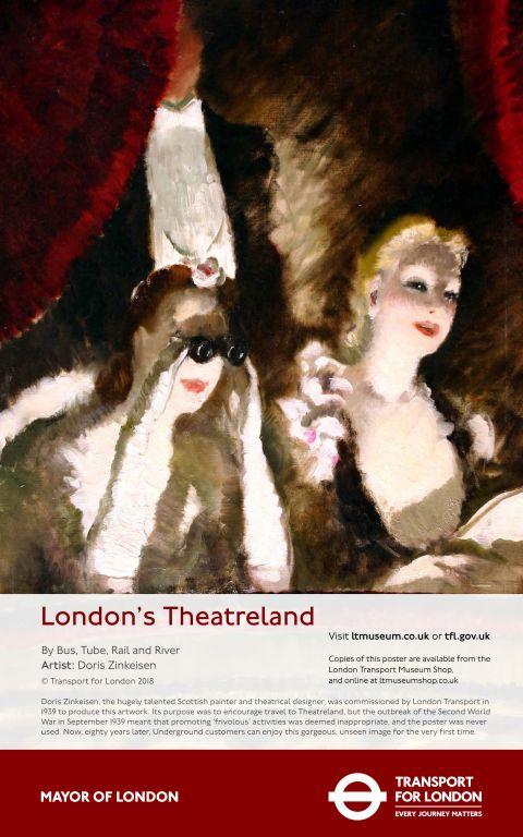 Night at the Theatre, Doris Zinkeisen 1939