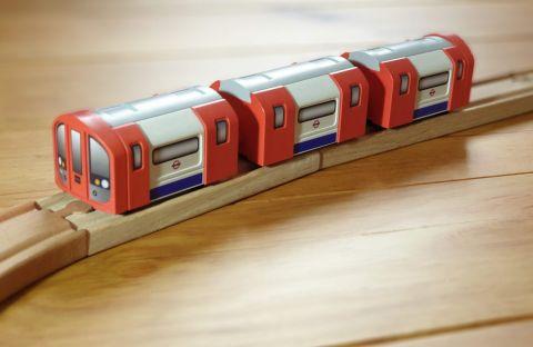 Underground Train Toy and Station Trainyard
