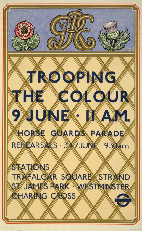 Trooping the Colour, by Harold Stabler, 1937