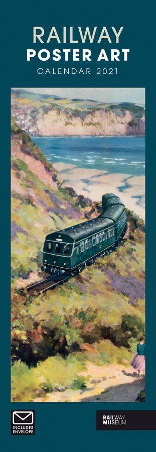 National Railway Museum Poster Art Slimline Calendar 2021