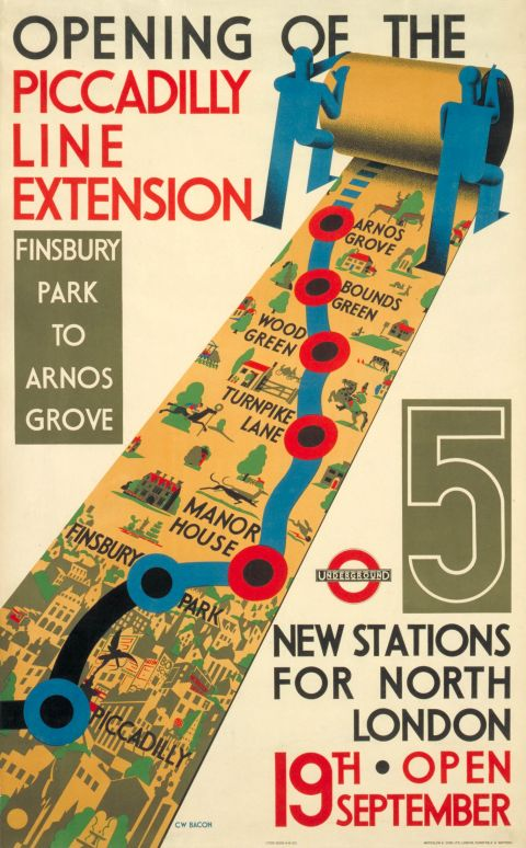 Opening of the Piccadilly line extension by Cecil Walter Bacon 1932