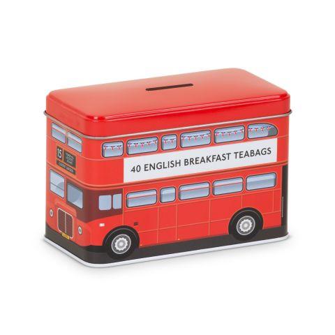 Red Bus Tea Tin