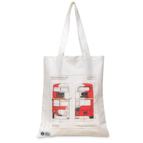 Routemaster Blueprint Tote Bag