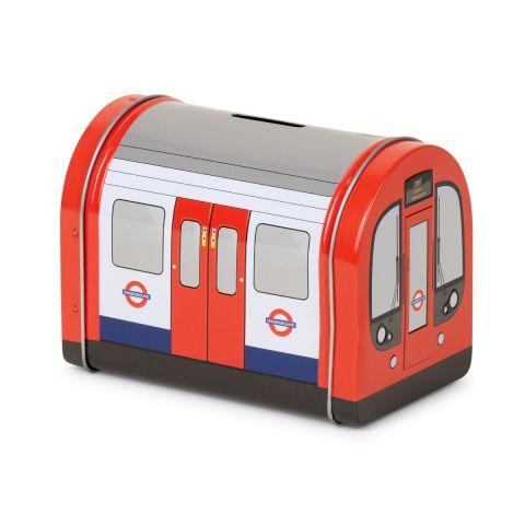 Tube Train Tea Tin