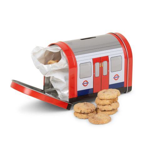 Tube Train Cookies Tin
