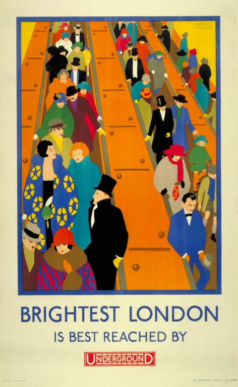 Brightest London is best reached by Underground, by Horace Taylor, 1924