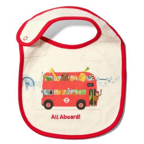 All Aboard Baby Bib