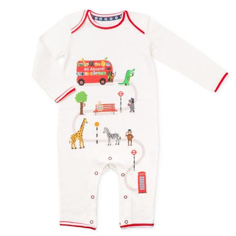 All Aboard Baby Grow