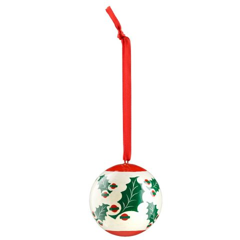 Holly Christmas Bauble