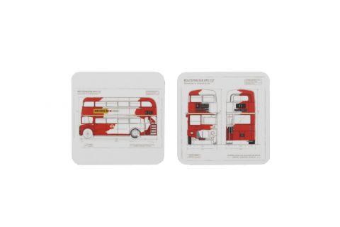 Routemaster Blueprint Coaster Set