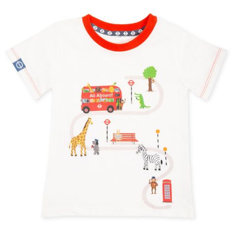 All Aboard Toddlers White T-Shirt-4-6 years