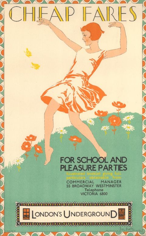 Cheap fares for school and pleasure parties, by Freda Lingstrom, 1929