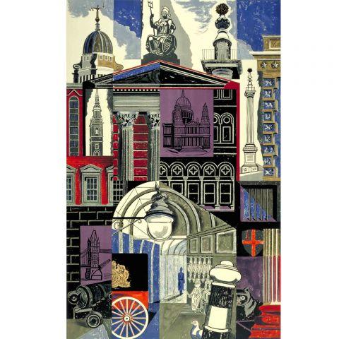 City, by Edward Bawden, 1952