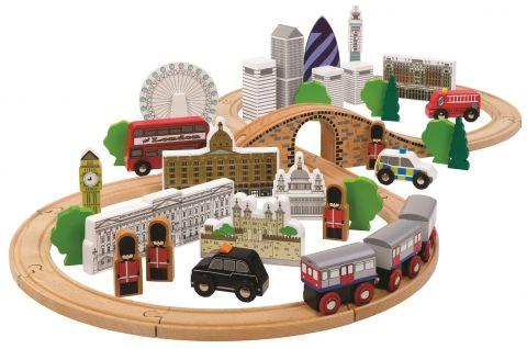 London Wooden Train Set