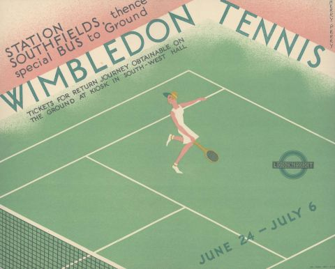 Wimbledon Tennis, by Herry Perry, 1935