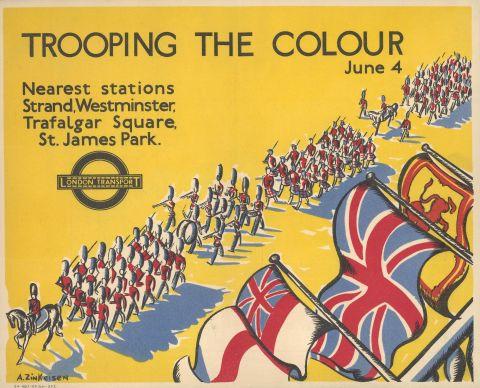 Trooping the Colour, by Anna Katrina Zinkeisen, 1934