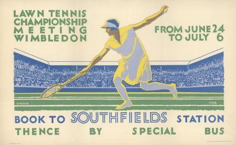 Lawn Tennis Championship Meeting, Wimbledon, by Dorothy Paton, 1929
