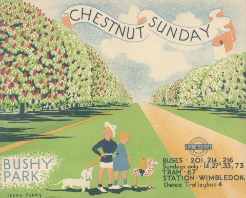 Chestnut Sunday, Bushy Park, by Herry Perry, 1935