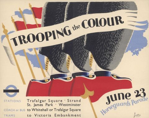 Trooping the Colour, by Dora M Batty, 1936