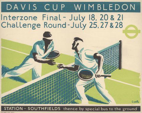 Davis Cup Wimbledon, by Walter Goetz, 1936