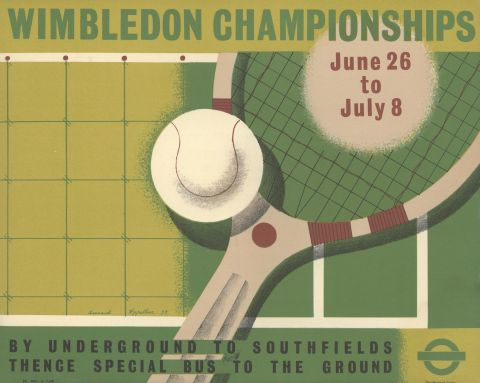 Wimbledon Championships, by Leonard Appelbee, 1939
