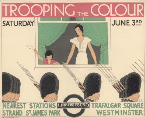 Trooping the Colour, by Andre Edouard Marty, 1933