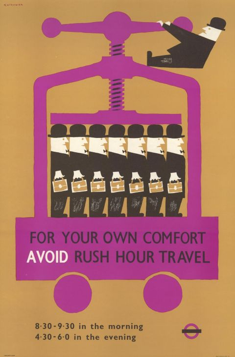 For your own comfort, avoid rush hour travel, by Victor Galbraith 1958