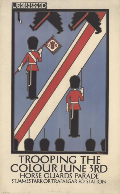 Trooping the Colour, by Charles Paine, 1922