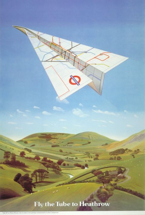 Fly the Tube to Heathrow 30x40 print