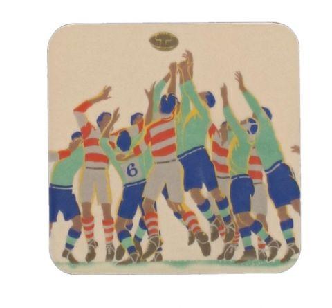 Rugby Coaster Set