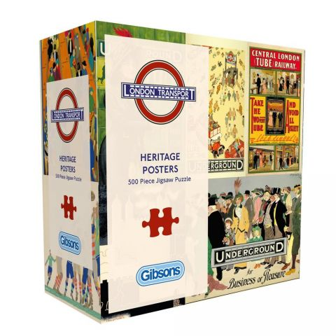 500 Piece Jigsaw Transport Posters