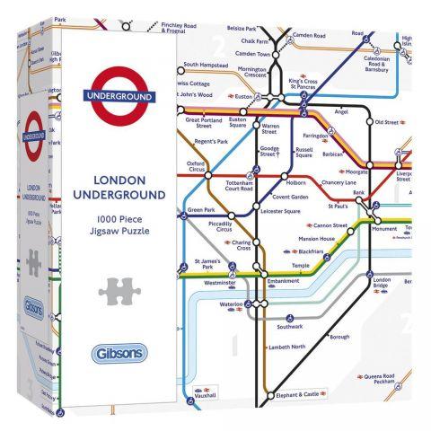 1000 Piece Jigsaw Underground Map