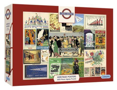 1000 Piece Jigsaw Transport Posters