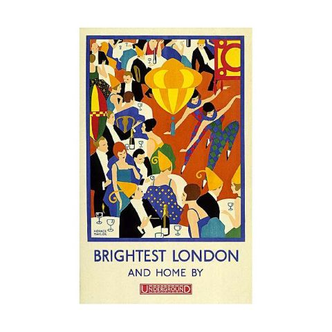 Brightest London and home by Underground 30x40 print