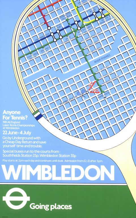 Wimbledon; anyone for tennis?, by unknown artist, 1981