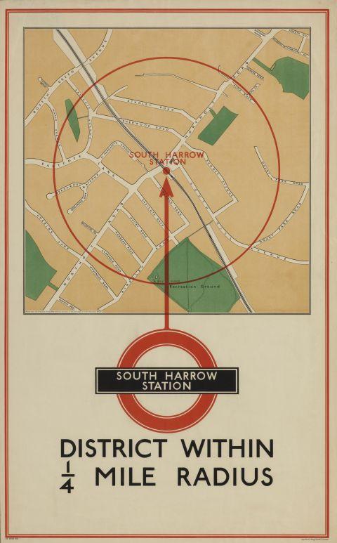 Local area map - South Harrow station, 1935
